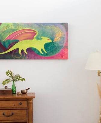 Meadow Dragon wall hanging