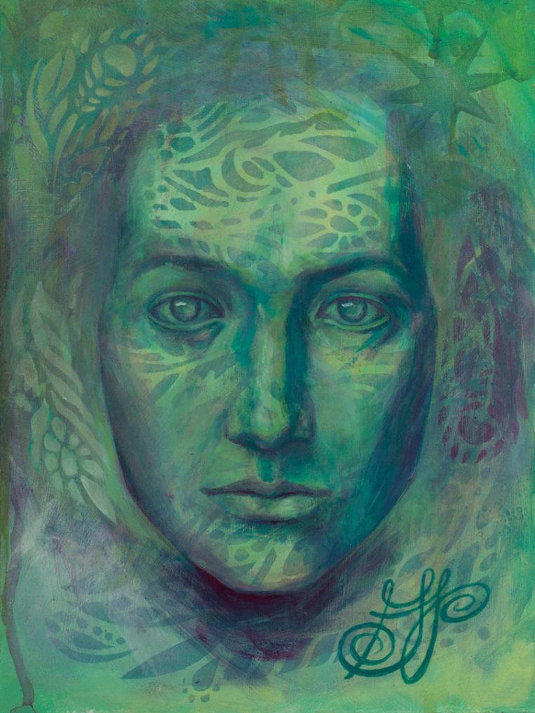 """""""The Descendant"""", a textured male portrait exploring masculine beauty."""